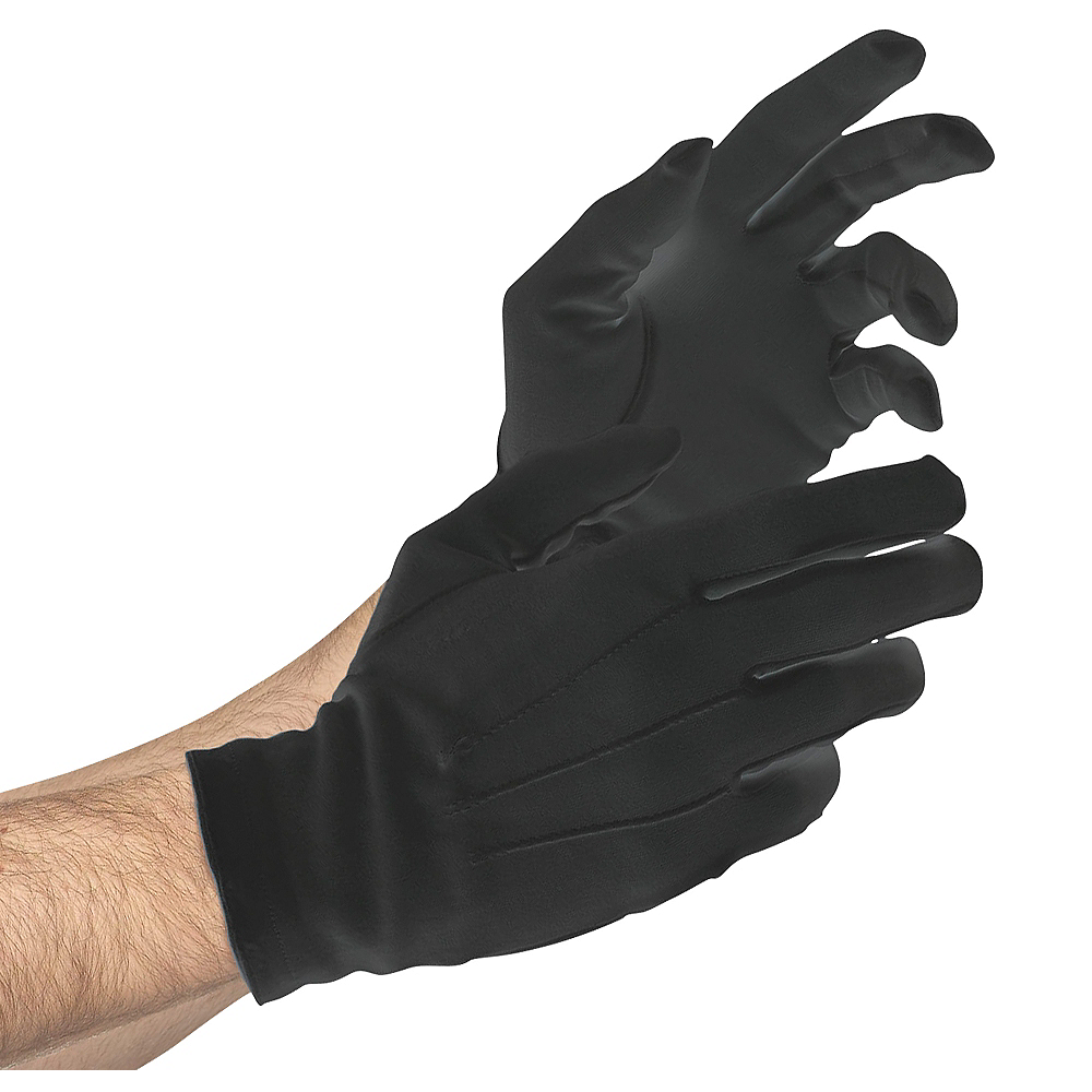 Adult Black Gloves Deluxe Image #1