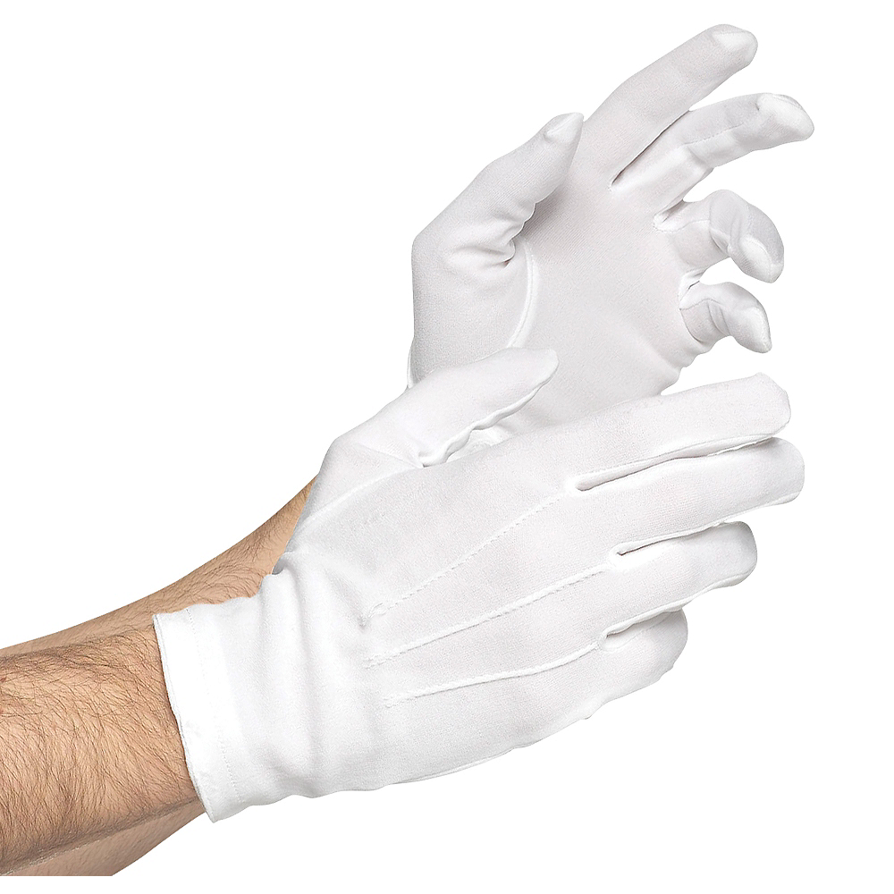 Adult White Gloves Deluxe Image #1