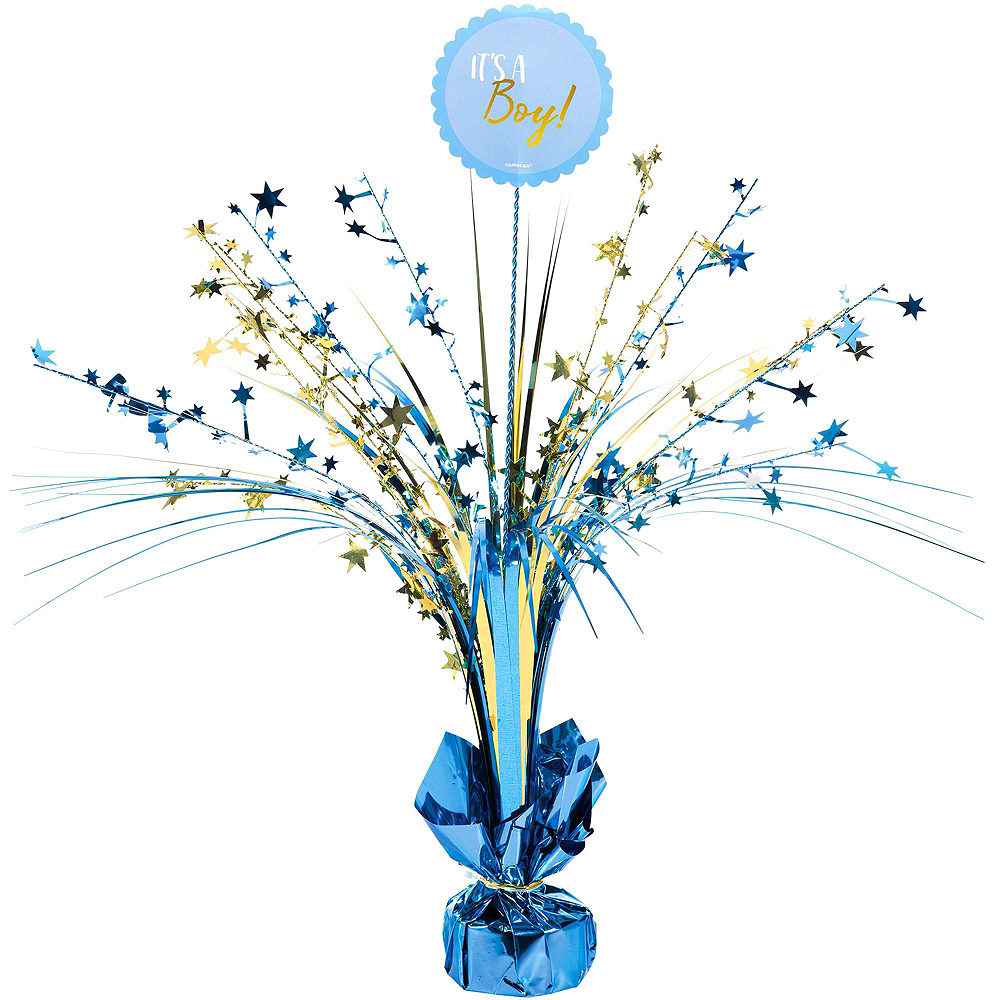 Blue & Metallic Gold Oh Baby Boy Baby Shower Kit for 16 Guests Image #8