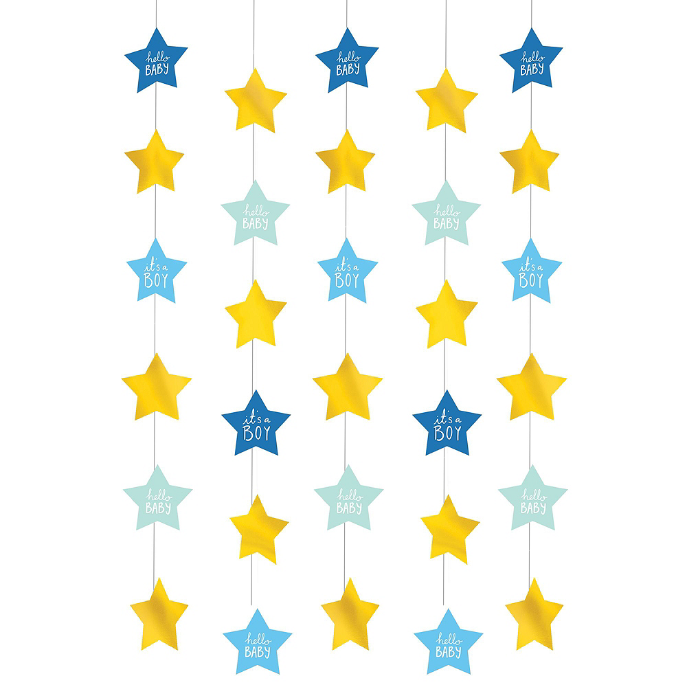 Blue & Metallic Gold Oh Baby Boy Balloon Arch Kit 3pc Image #4