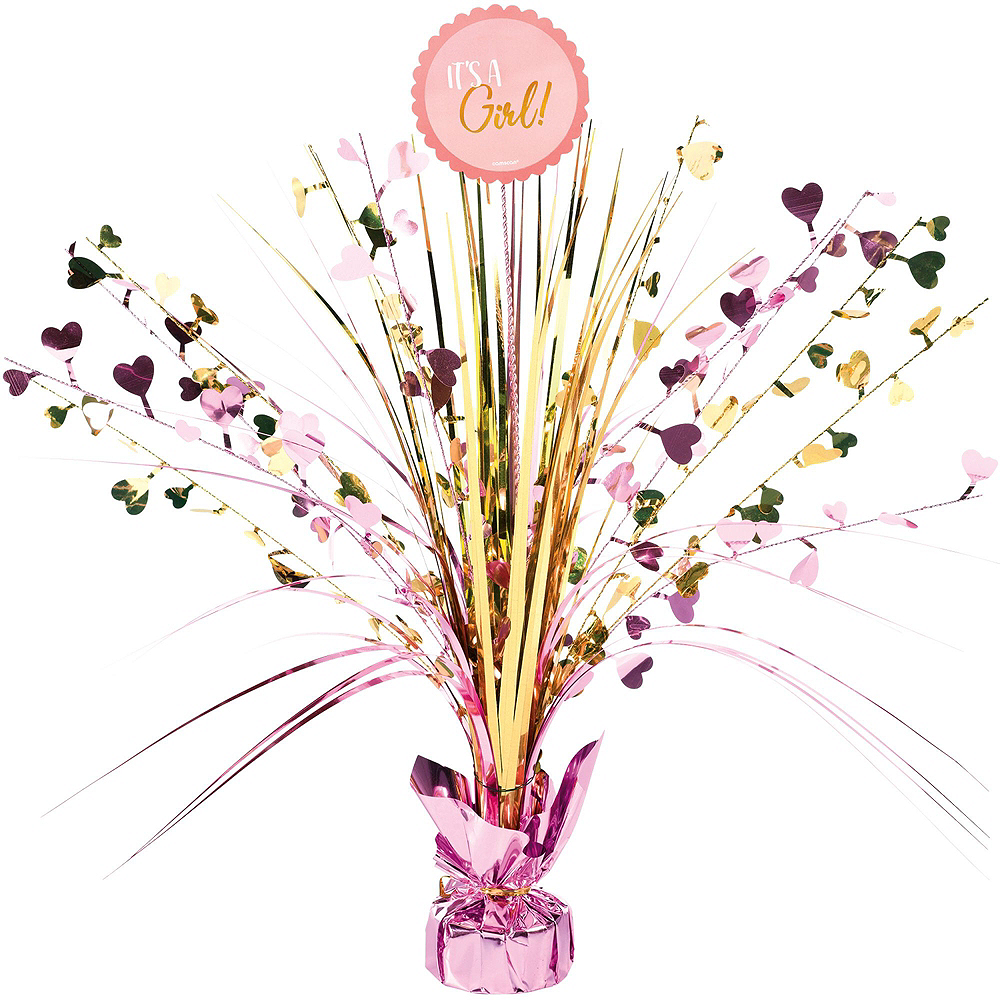 Metallic Gold & Pink Oh Baby Girl Baby Shower Kit for 16 Guests Image #9
