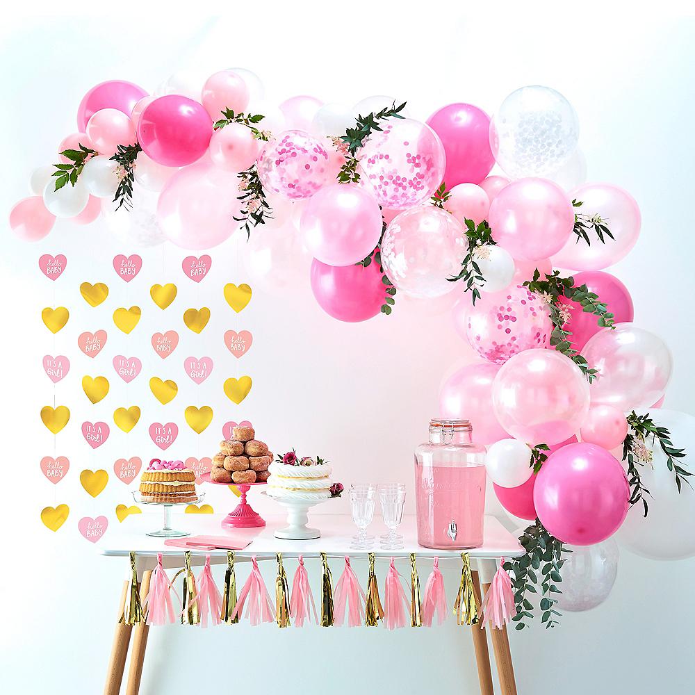 Metallic Gold & Pink Oh Baby Girl Balloon Arch Kit 3pc Image #1