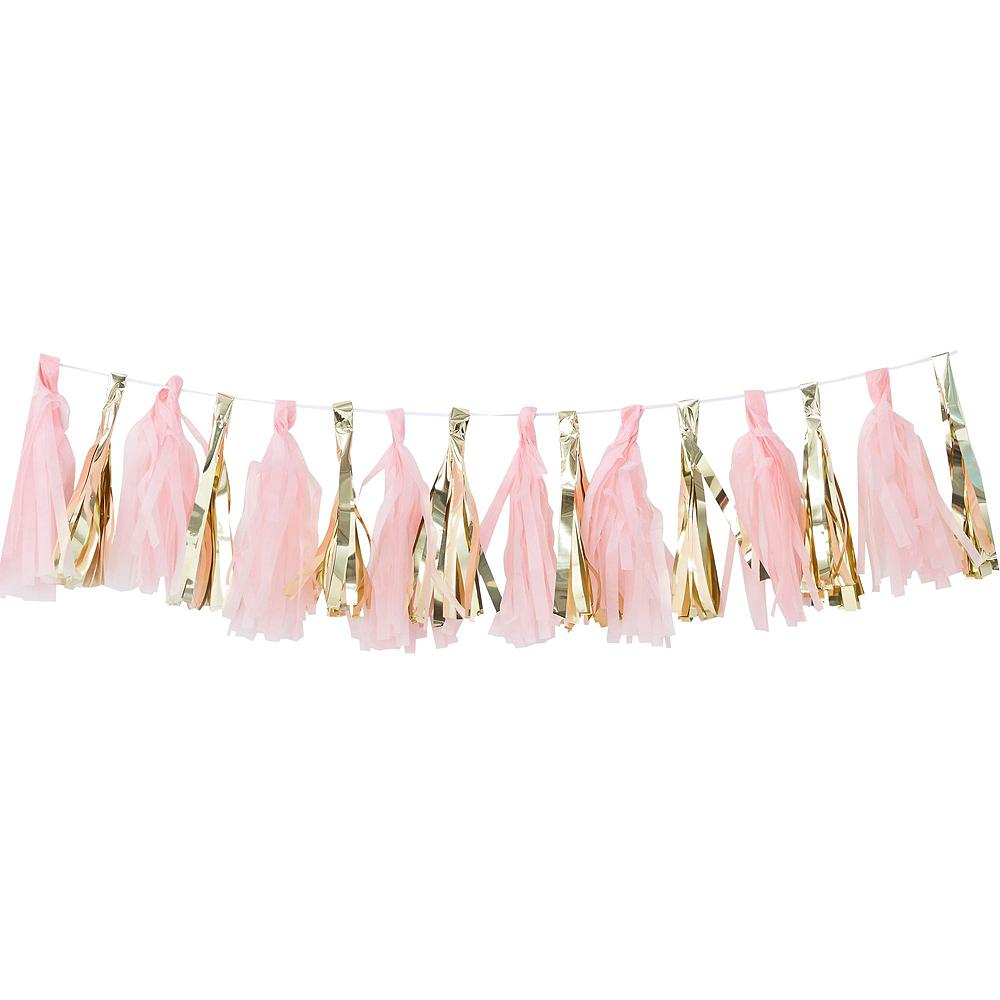 Metallic Gold & Pink Oh Baby Girl Balloon Arch Kit 3pc Image #2