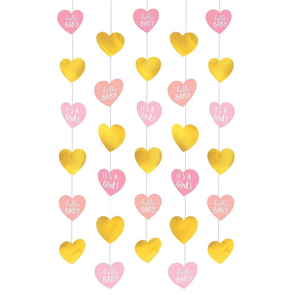Metallic Gold & Pink Oh Baby Girl Balloon Arch Kit 3pc Image #4