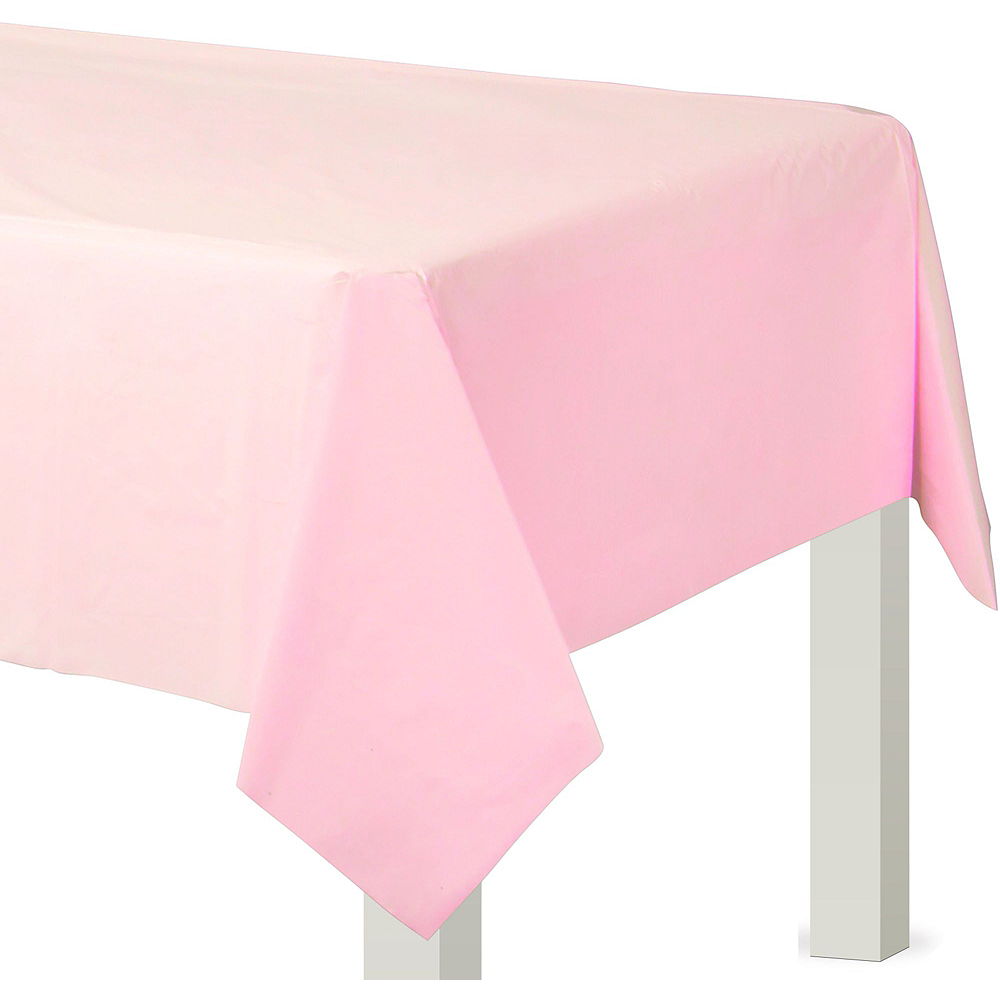 Blush Pink Plastic Tableware Kit for 50 Guests Image #6