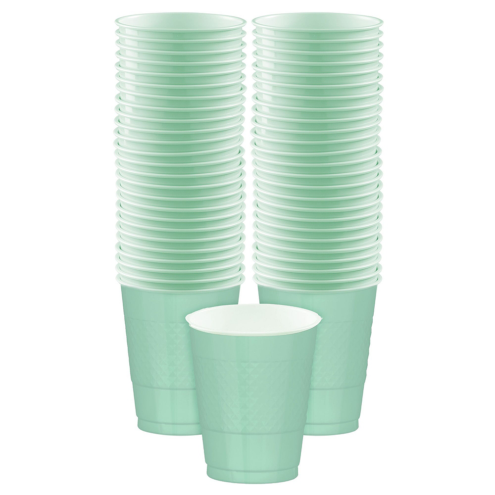 Cool Mint Plastic Tableware Kit for 50 Guests Image #5