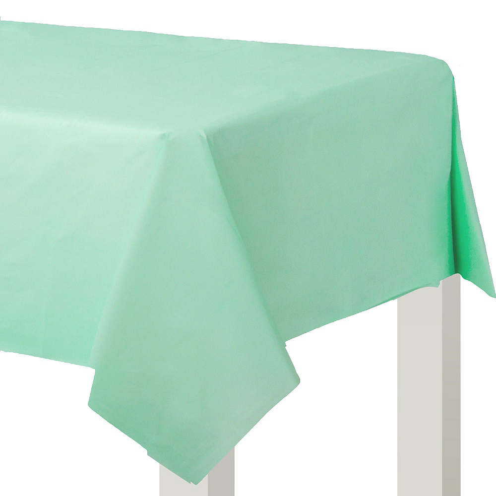 Cool Mint Plastic Tableware Kit for 50 Guests Image #6