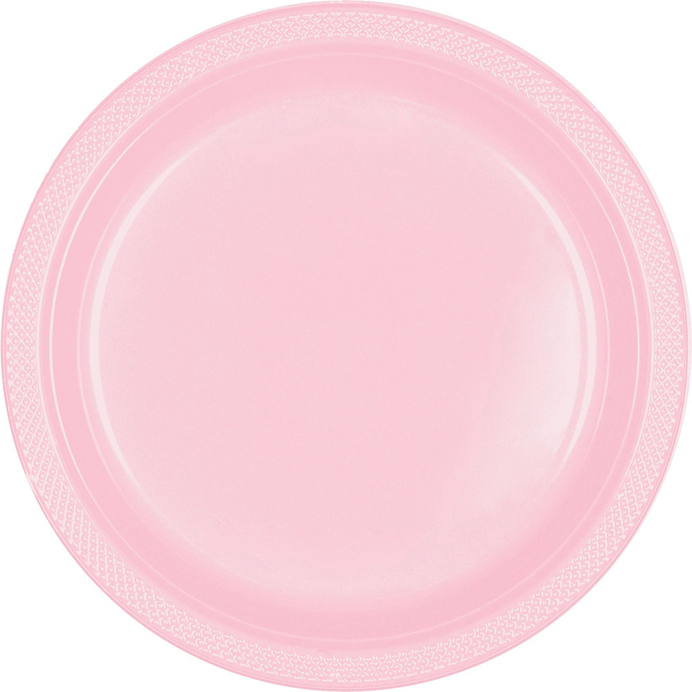 Blush Pink Plastic Tableware Kit for 100 Guests Image #3