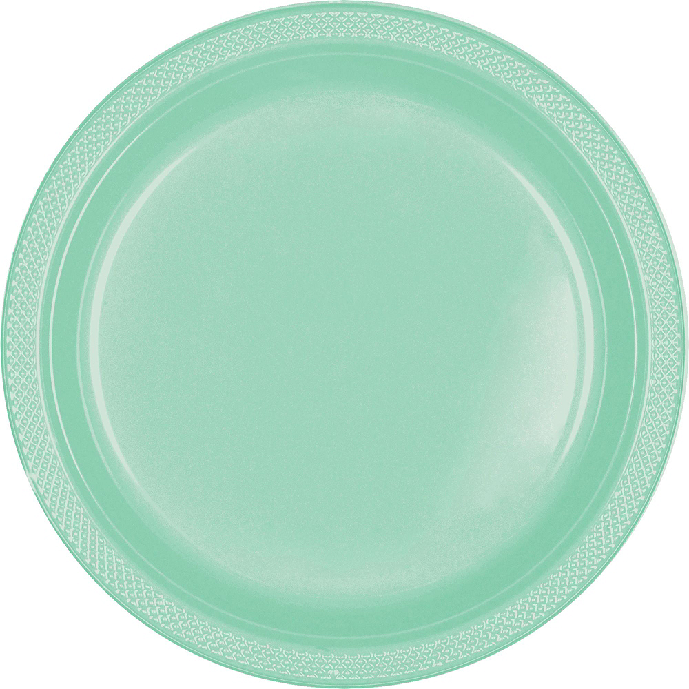 Cool Mint Plastic Tableware Kit for 100 Guests Image #3