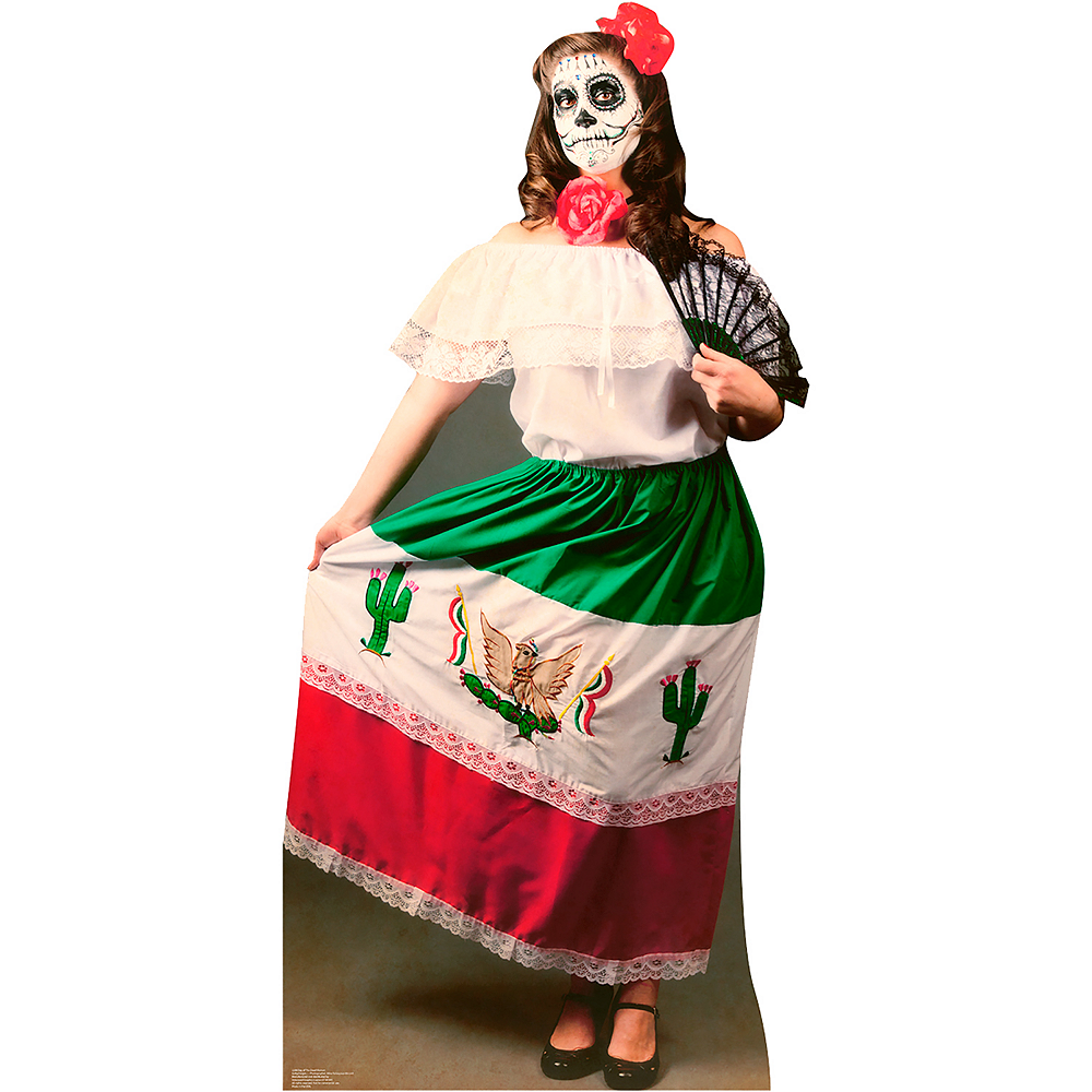 Day Of The Dead Woman Life-Size Cardboard Cutout Image #1