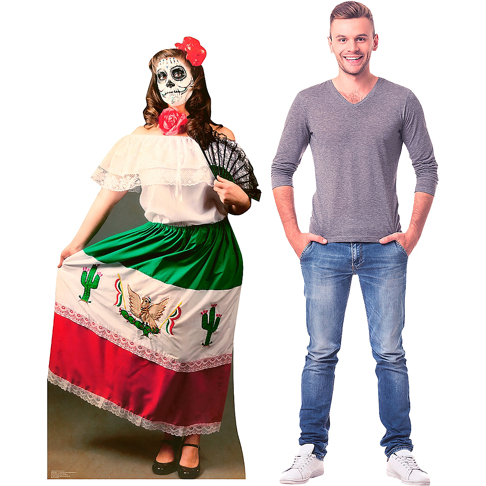 Day Of The Dead Woman Life-Size Cardboard Cutout Image #2