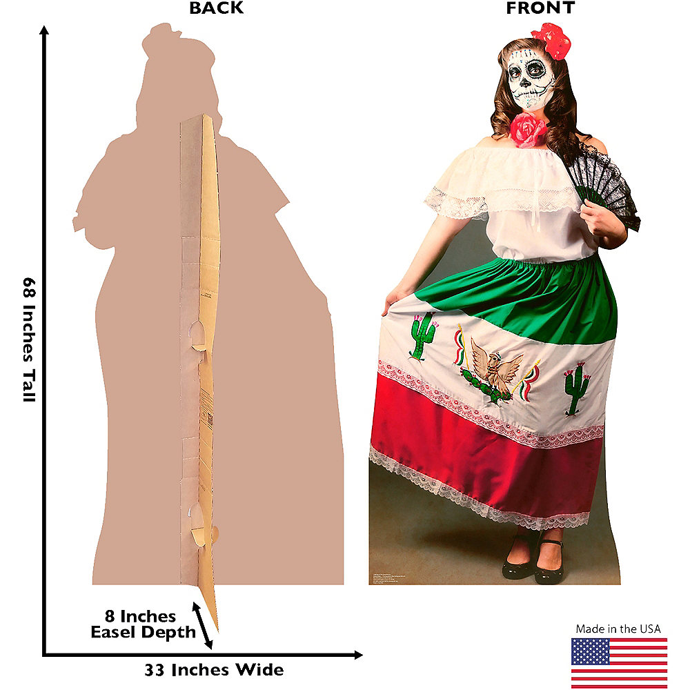 Day Of The Dead Woman Life-Size Cardboard Cutout Image #3