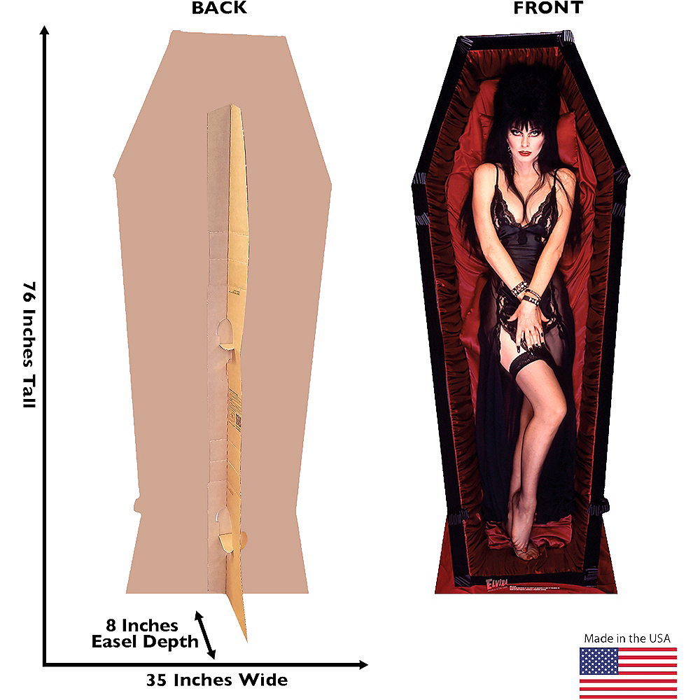 Elvira Coffin Life-Size Cardboard Cutout - Elvira: Mistress of the Dark Image #3