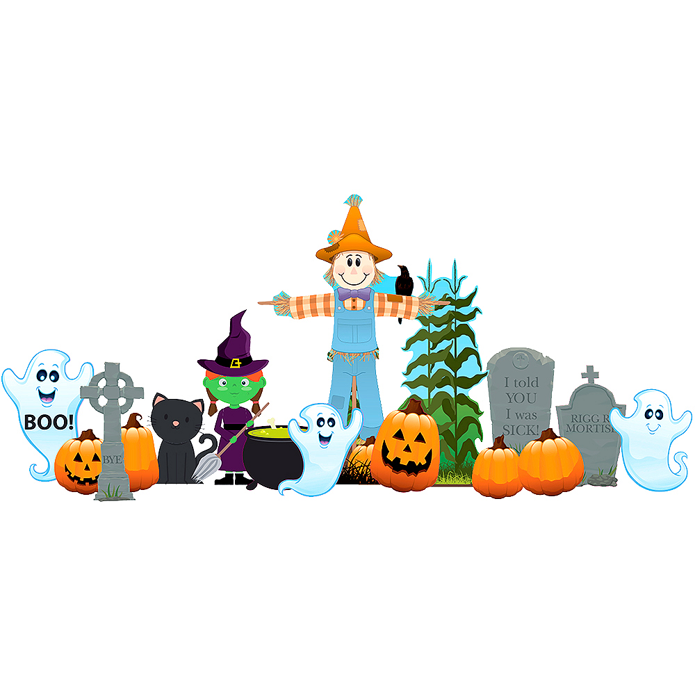Nav Item for Friendly Halloween Outdoor Decor Set 18pc Image #1