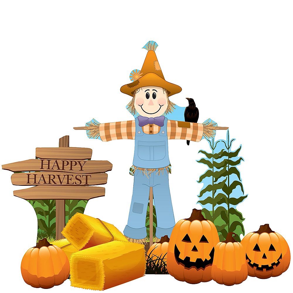 Scarecrow Outdoor Decor Set 8pc Image #1