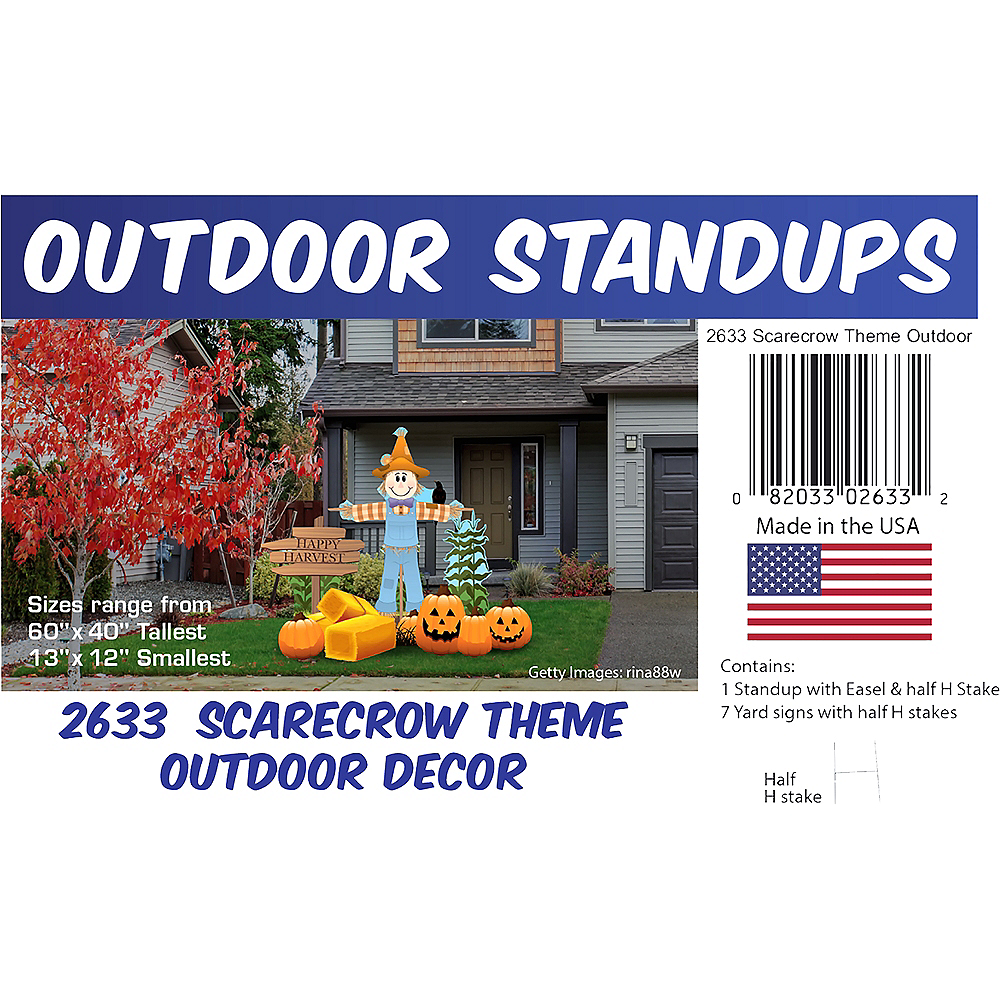 Scarecrow Outdoor Decor Set 8pc Image #2