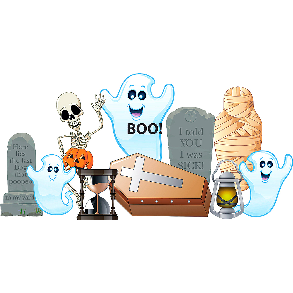 Spooky Fun Outdoor Decor Set 10pc Image #1