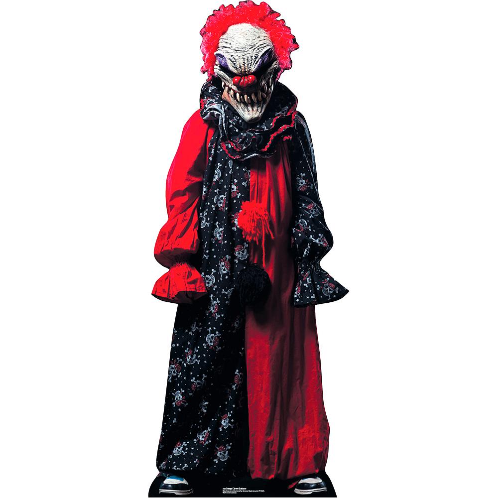 Creepy Clown Life-Size Plastic Cutout Image #1