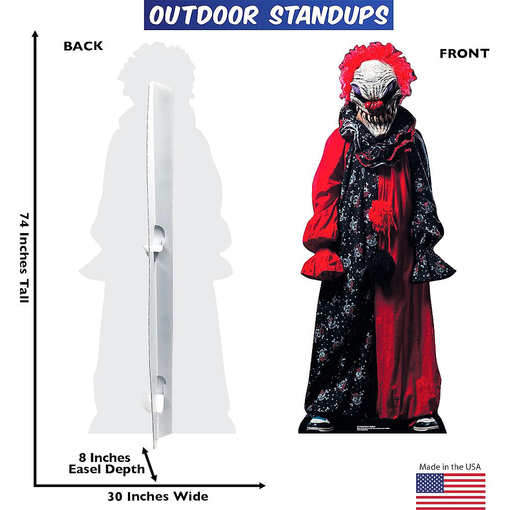 Creepy Clown Life-Size Plastic Cutout Image #2