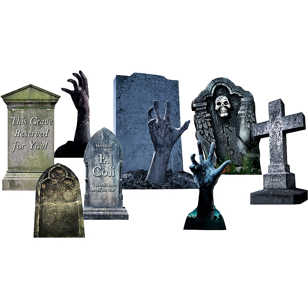 Hands Tombstone Outdoor Decor Set 16pc Image #1