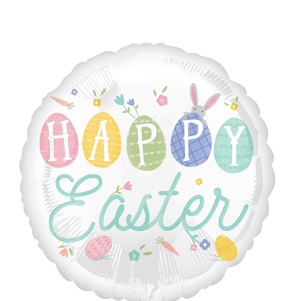 Pretty Pastel Happy Easter Balloon, 17in Image #1