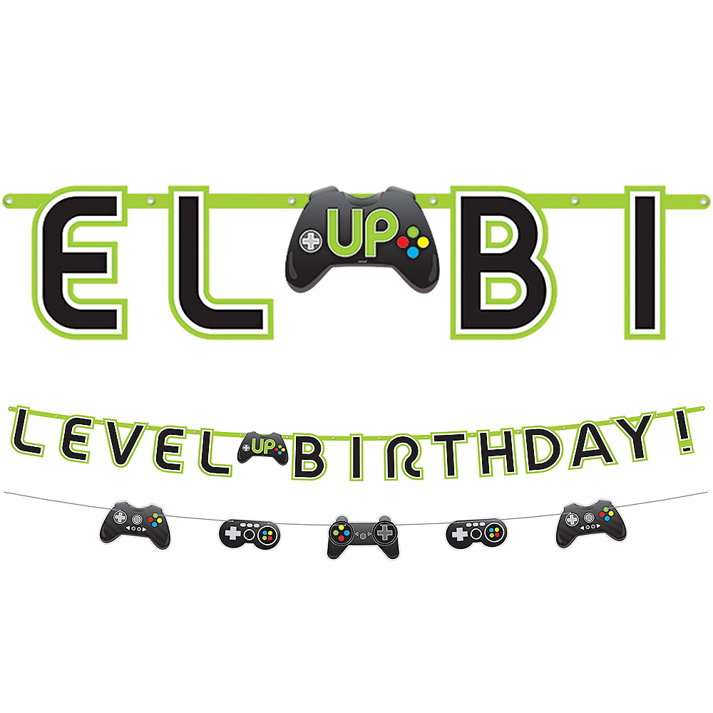 Level Up Birthday Banner with Mini Banner Image #1