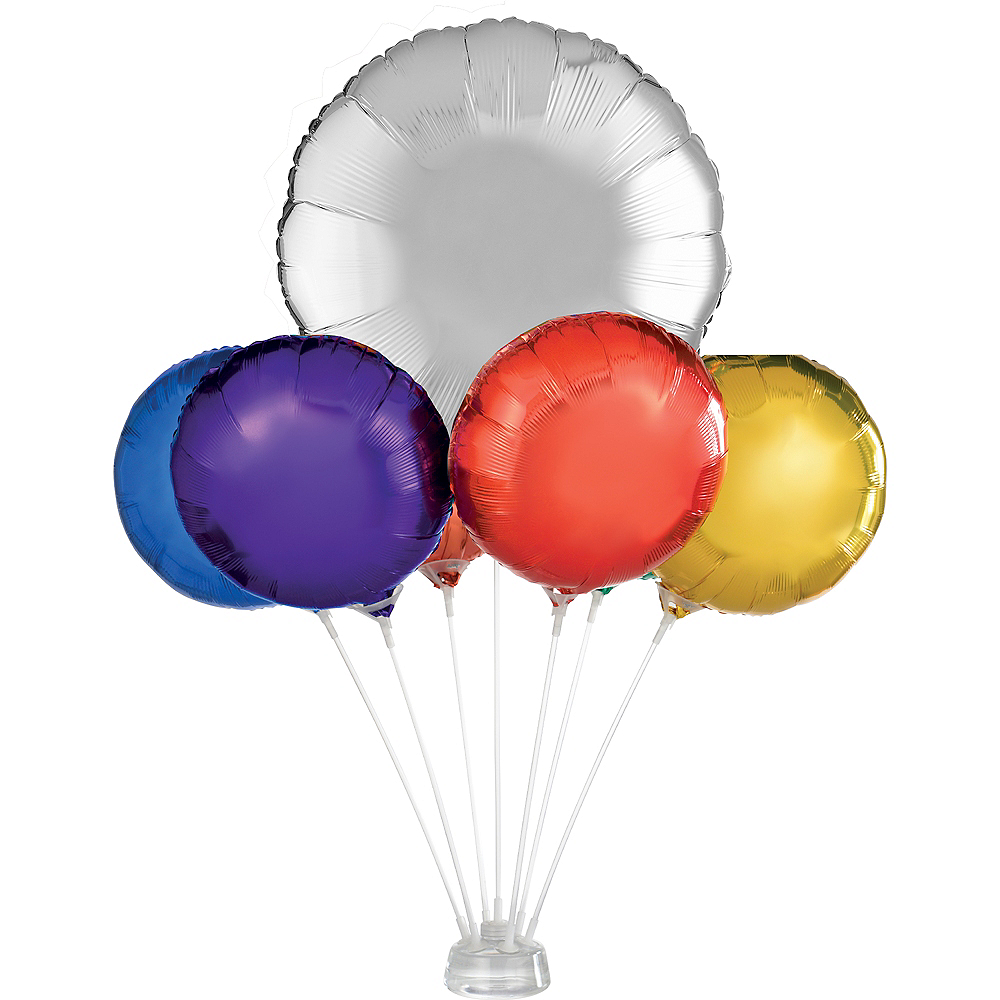Air-Filled Foil Balloon Centerpiece Base Kit Image #1