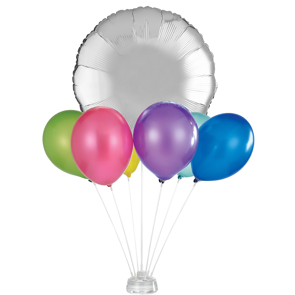 Air-Filled Latex Balloon Centerpiece Base Kit Image #1