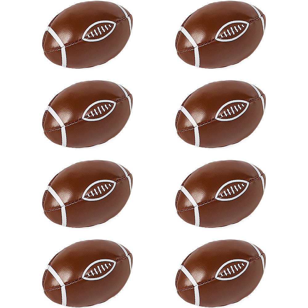 Soft Mini Footballs 8ct Image #1