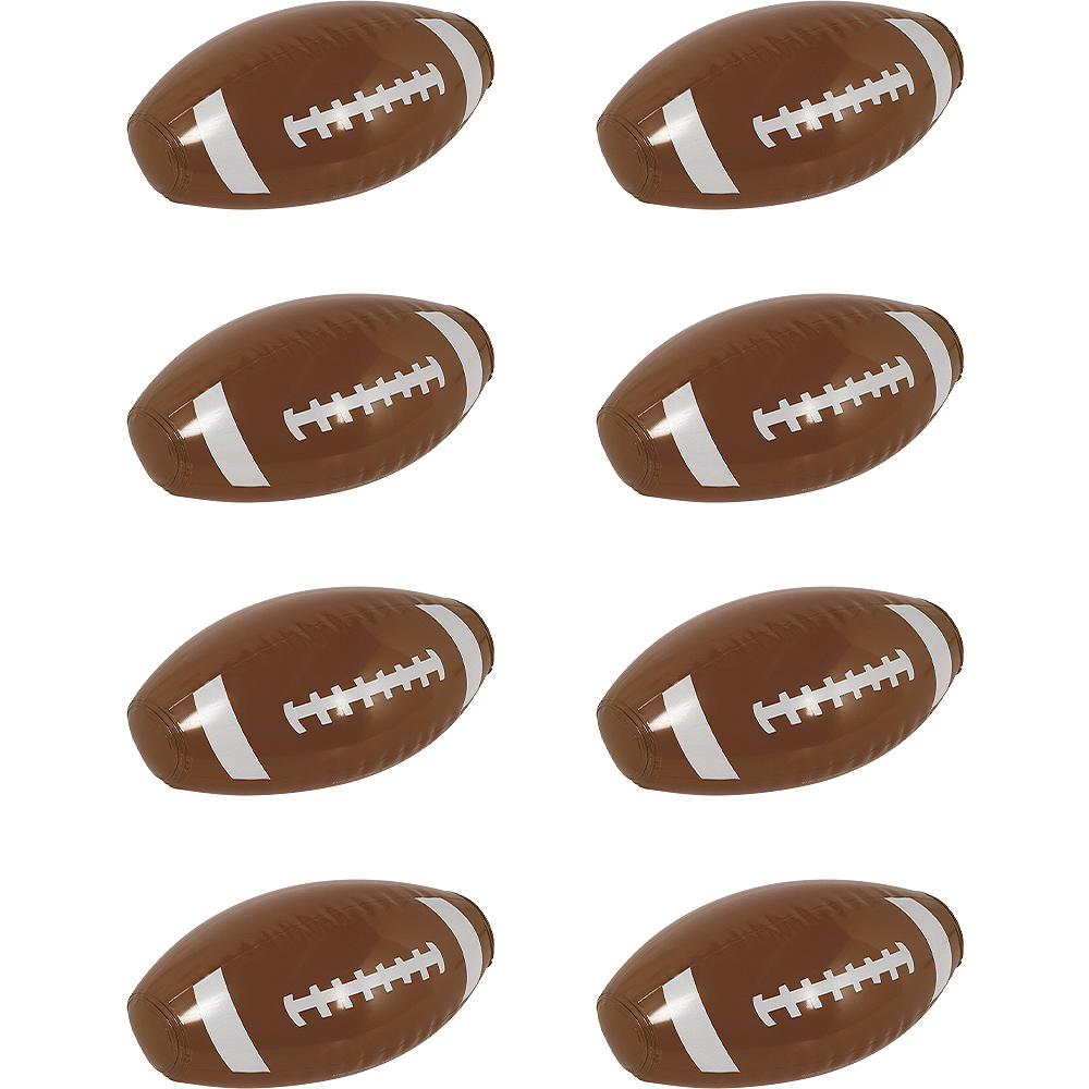Inflatable Footballs 8ct Image #1