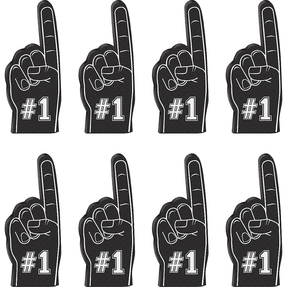 Mini Black Foam Fingers 8ct Image #1