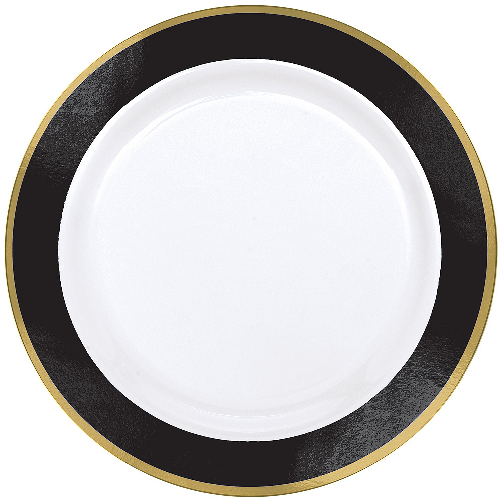 Black & White Check Tableware Kit with Chargers for 8 Guests Image #2