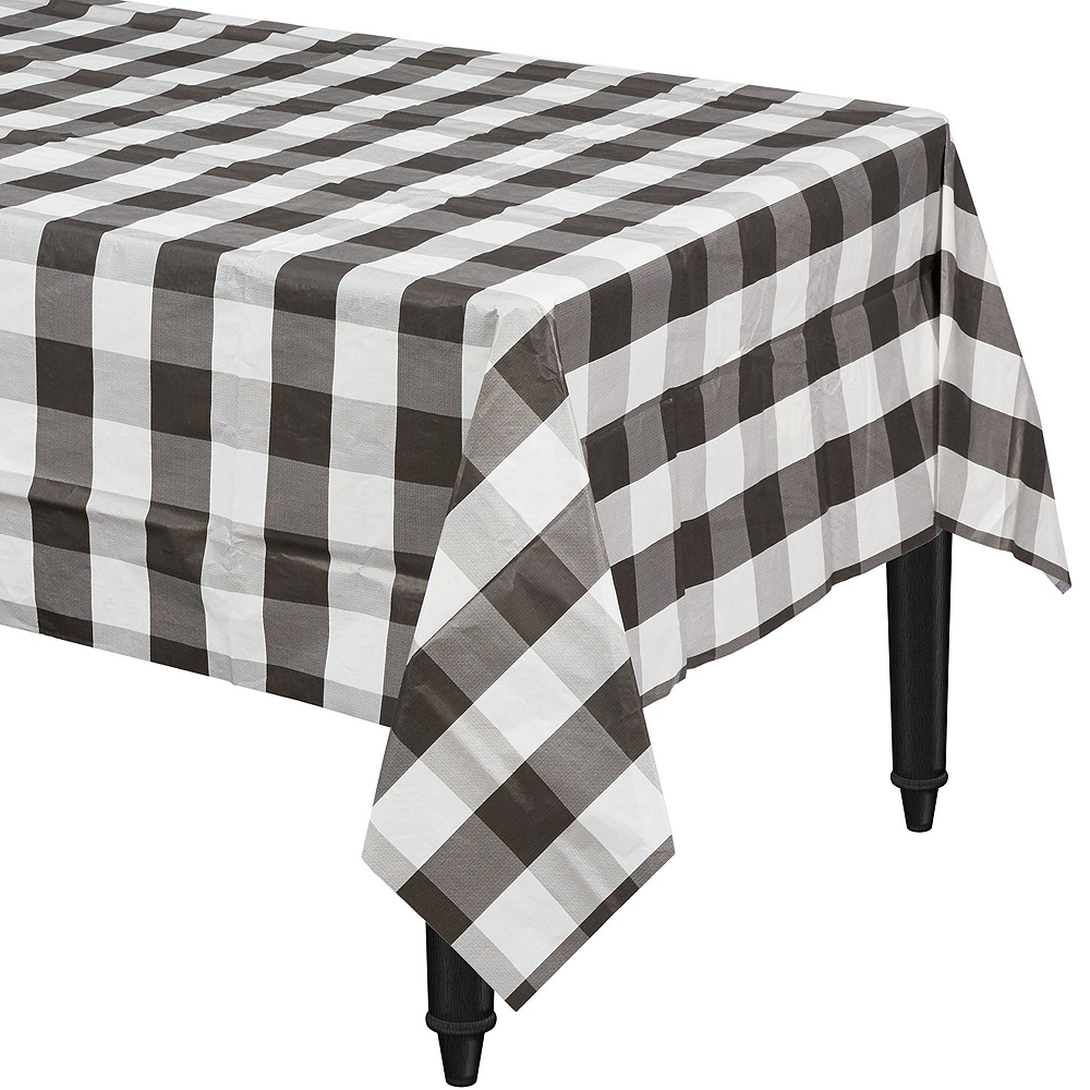 Black & White Check Tableware Kit with Chargers for 8 Guests Image #4
