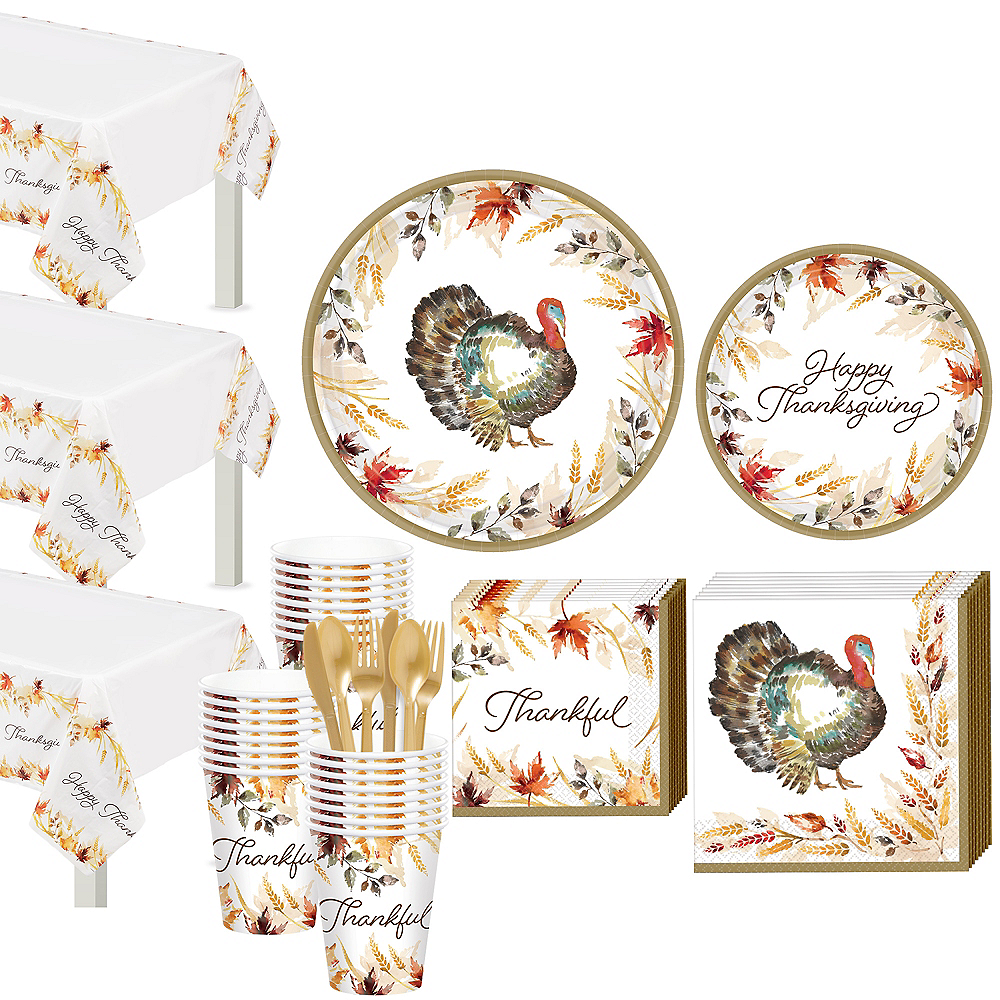 Classic Thanksgiving Tableware Kit for 50 Guests Image #1