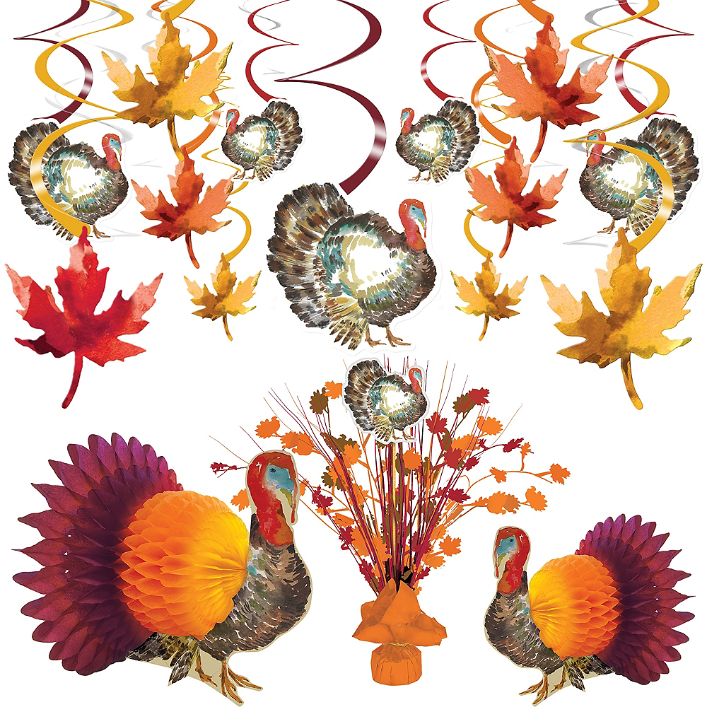 Classic Thanksgiving Decorating Kit Image #1