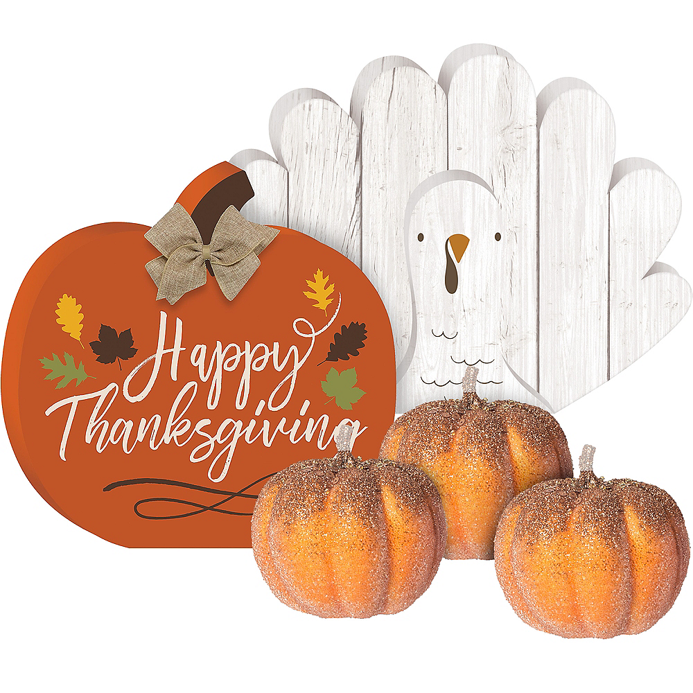 Nav Item for Rustic Thanksgiving Decorating Kit Image #1