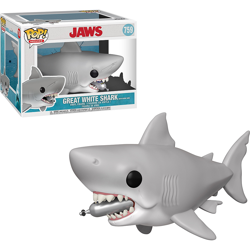 Funko Pop! Great White Shark Figure with Diving Tank - Jaws Image #1