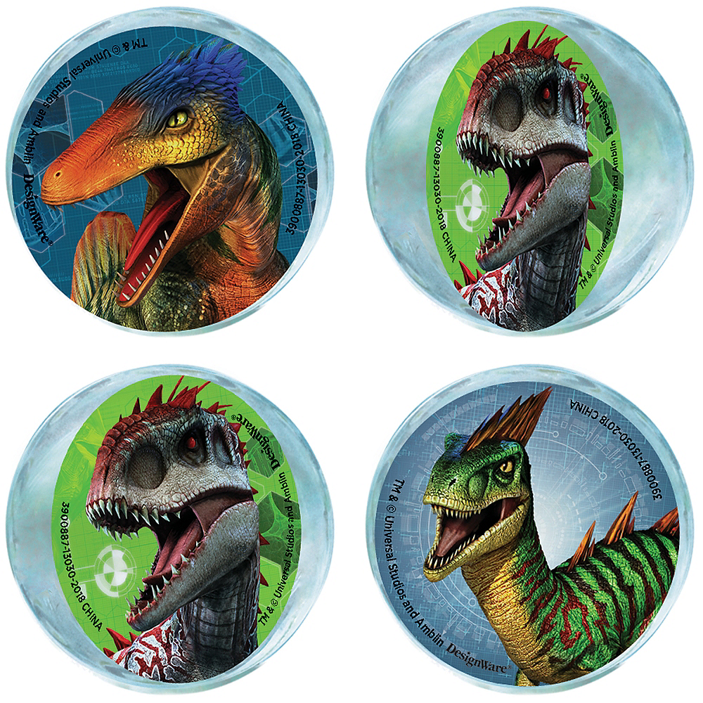 Jurassic World Bounce Balls 4ct Image #1