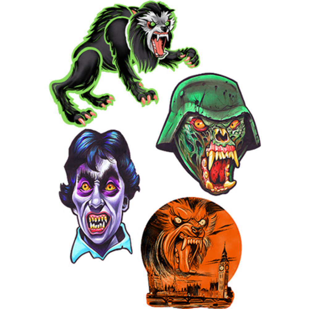 American Werewolf in London Series 1 Wall Decals 4ct Image #1
