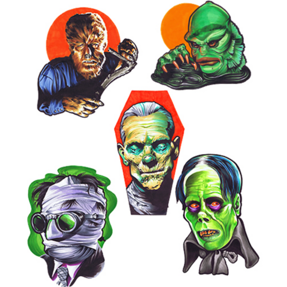 Universal Monsters Series 1 Wall Decals 5ct Image #1