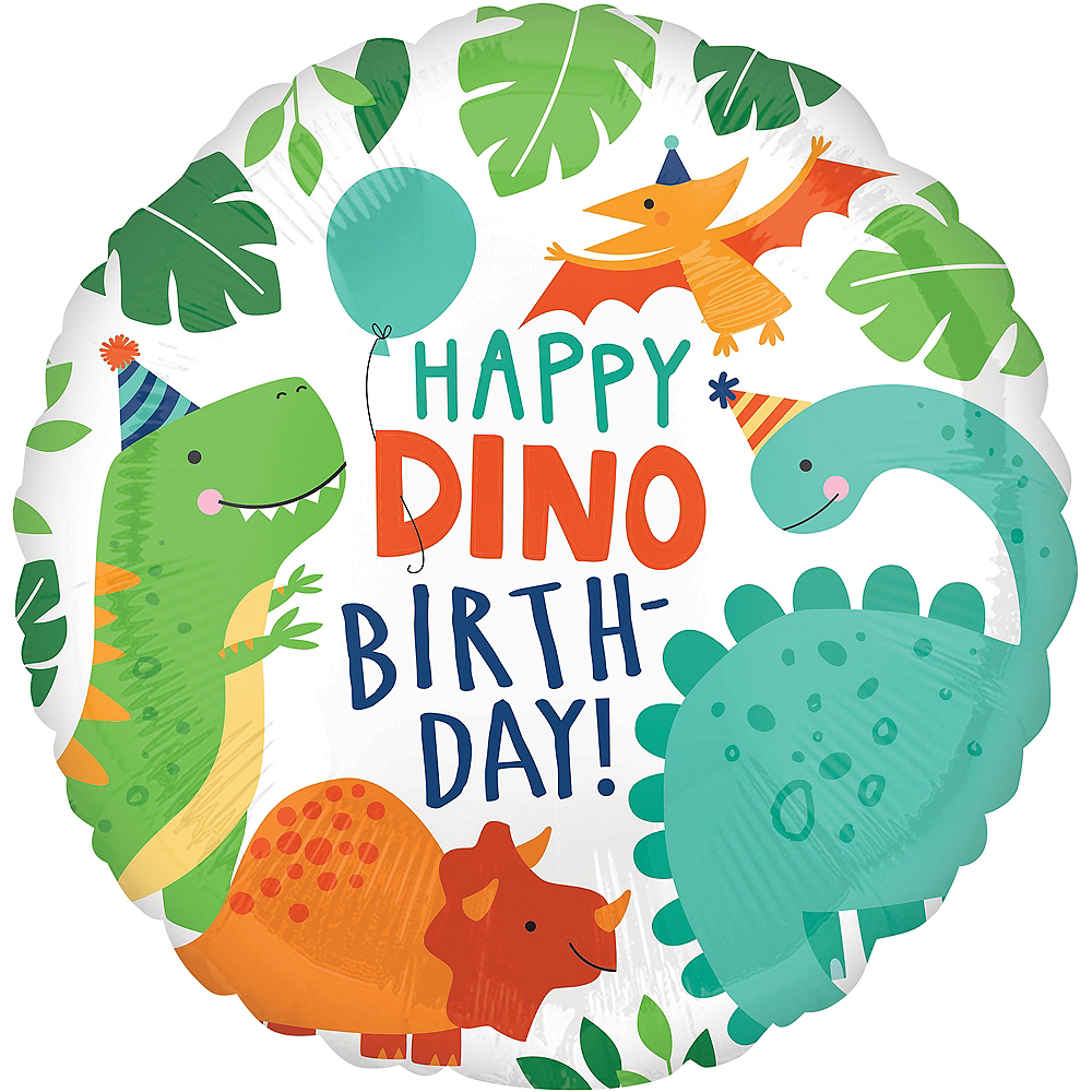 Dino-Mite Birthday Balloon, 18in Image #1