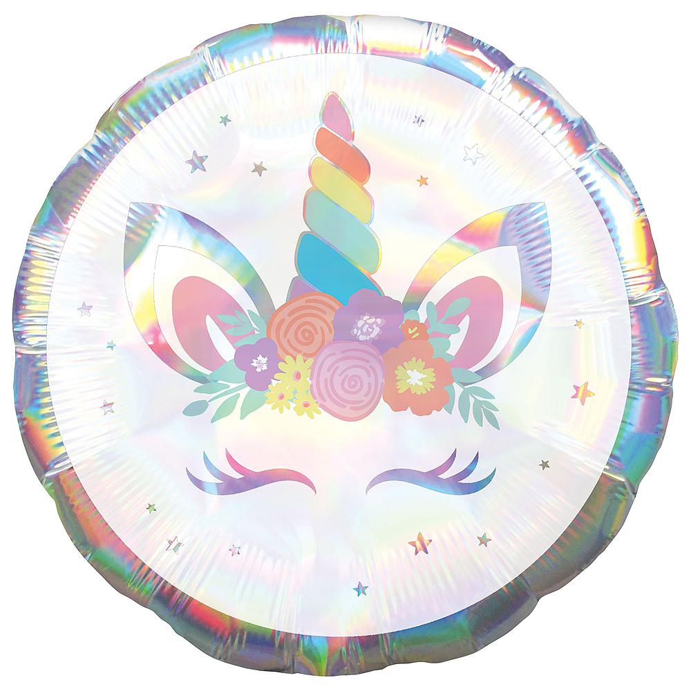 Iridescent Unicorn Balloon Image #1