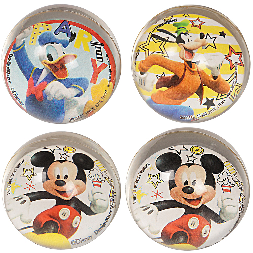 Mickey Mouse Bounce Balls 4ct Image #1