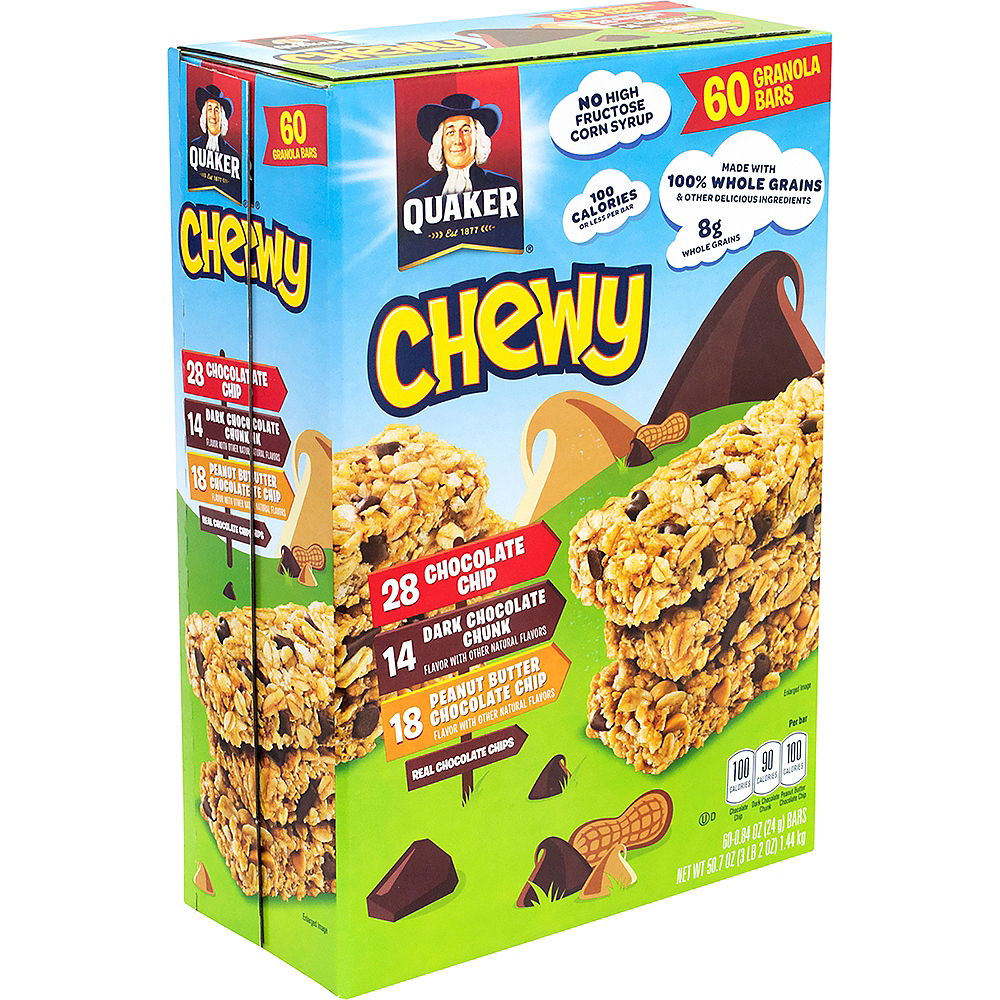 Quaker Chewy Granola Bar Variety Pack 60ct Image #1