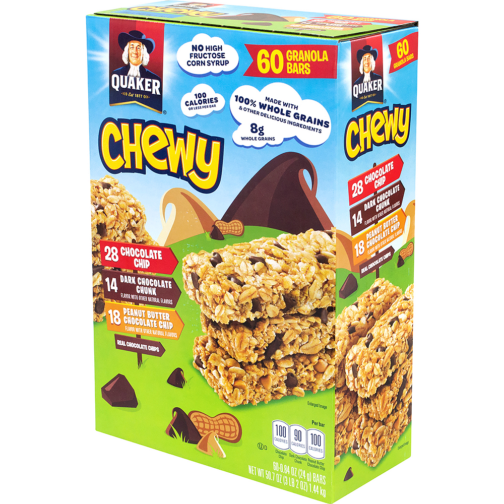 Quaker Chewy Granola Bar Variety Pack 60ct Image #4
