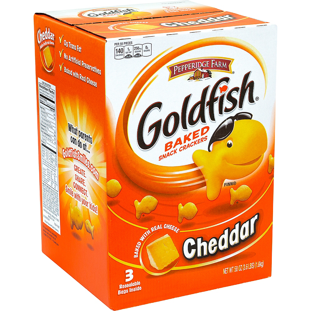 Pepperidge Farm Goldfish Cheddar Baked Snack Crackers 56oz Image #1
