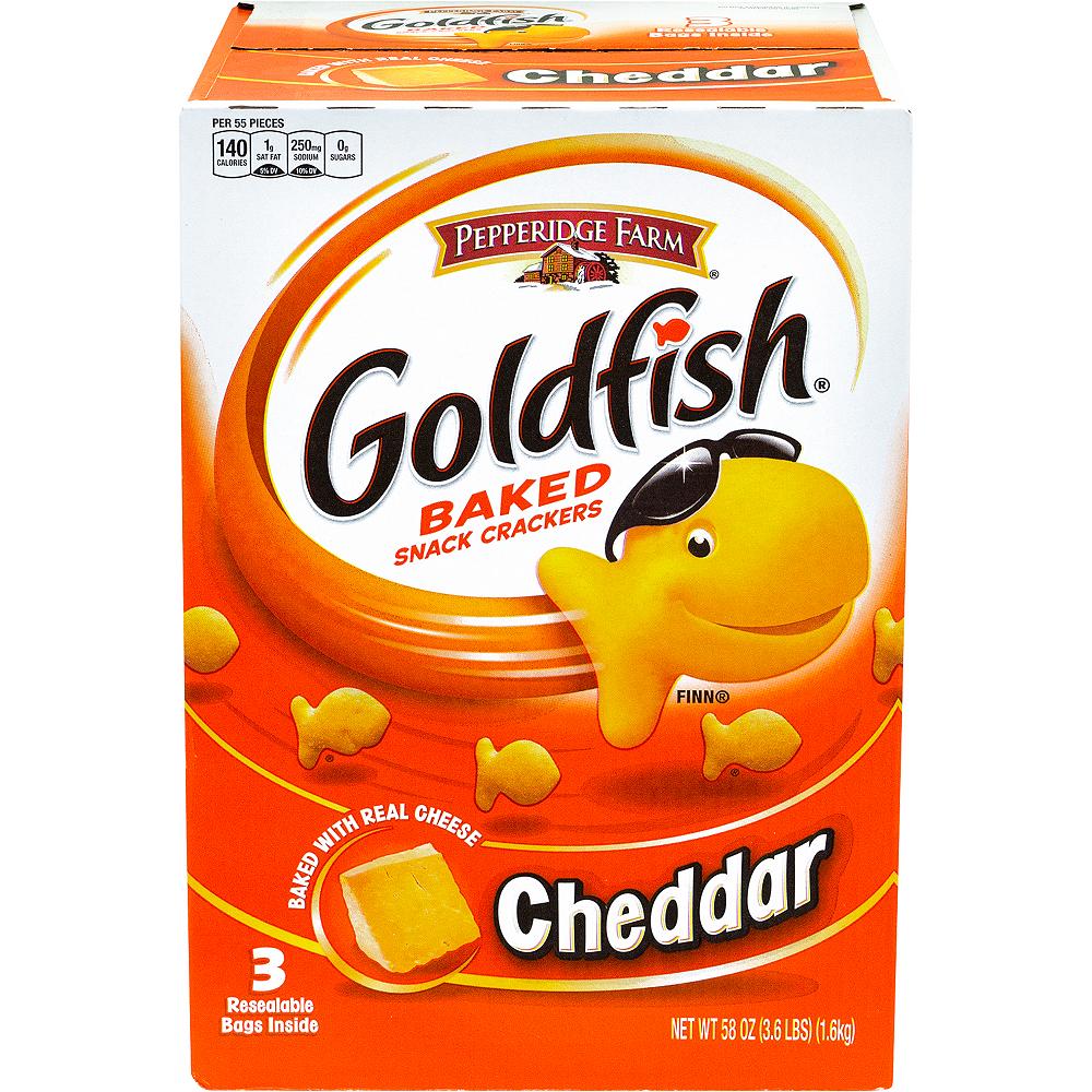 Pepperidge Farm Goldfish Cheddar Baked Snack Crackers 56oz Image #3