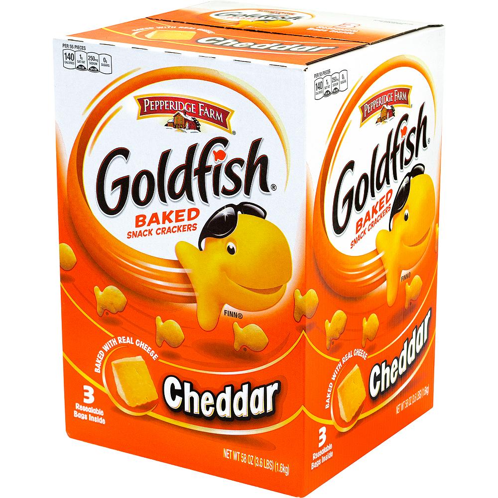 Pepperidge Farm Goldfish Cheddar Baked Snack Crackers 56oz Image #4