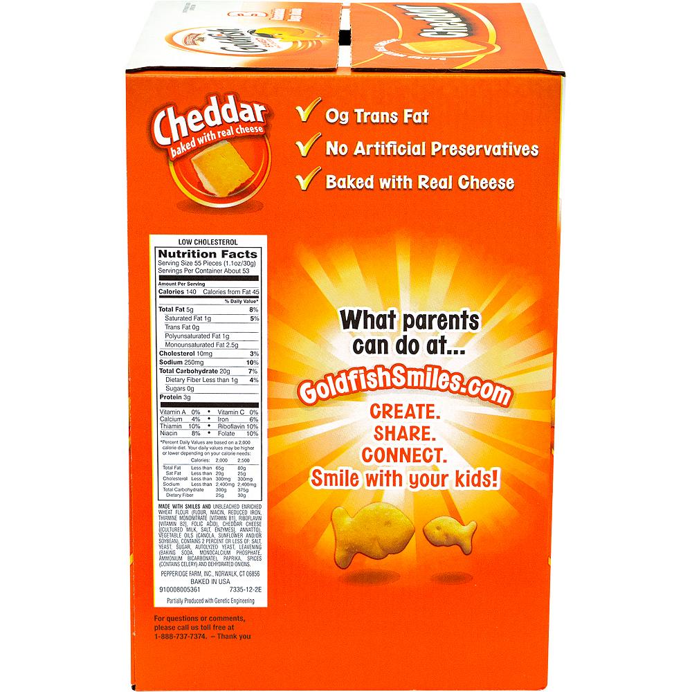Pepperidge Farm Goldfish Cheddar Baked Snack Crackers 56oz Image #5