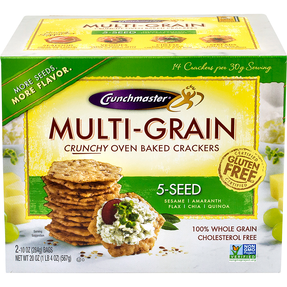 Crunchmaster 5-Seed Multi-Grain Crackers Image #2